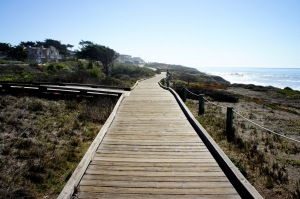 Boardwalk on Moonlight Beach